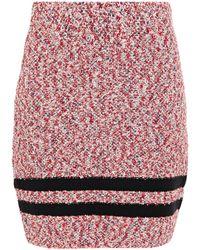 Rag & Bone - Halstead Striped Cotton-blend Bouclé Mini Skirt Red - Lyst