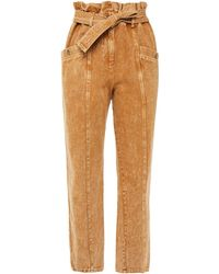 Sea Belted High-rise Tapered Jeans Light Brown