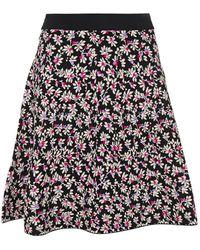 Diane von Furstenberg Fluted Jacquard-knit Mini Skirt - Black