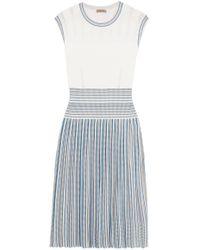 Bottega Veneta   Pleated Jacquard-knit Dress   Lyst