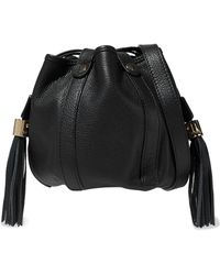 991e2c45ae101 See By Chloé See By Chloé Vicki Textured-leather Bucket Bag Black