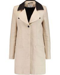 Carven - Linen Coat - Lyst