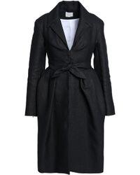 Delpozo - Tie-front Pleated Woven Coat - Lyst