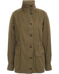 Rag & Bone Mazie Cotton-gabardine Jacket Army Green