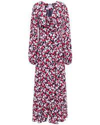 Gül Hürgel Gül Hürgel Floral-print Woven Maxi Dress - Blue