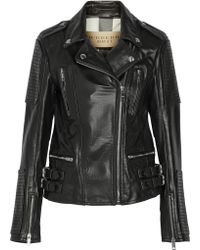 Burberry Brit - Leather Biker Jacket - Lyst