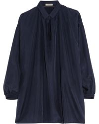 Burberry Brit - Washed-silk Blouse - Lyst