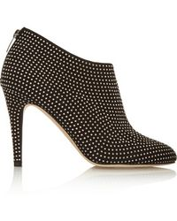 Jimmy Choo - Mendez Studded Suede Ankle Boots - Black