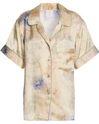 Anna Sui - Floral-print Silk-satin Shirt - Lyst