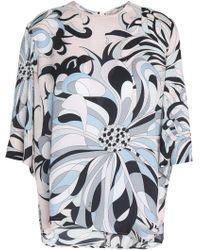 454556948e0 Emilio Pucci - Woman Silk-jacquard Top Pastel Pink Size 38 - Lyst