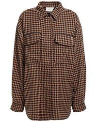 Gestuz Bellis Oversized Houndstooth Jacquard Shirt - Multicolour