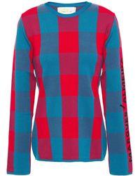 Marques'Almeida Jacquard-knit Sweater - Red