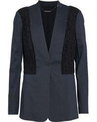 Elie Tahari - Bonnie Crochet-paneled Linen-blend Blazer - Lyst