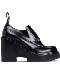 Paco Rabanne Woman Leather Platform Loafers Black Size 36