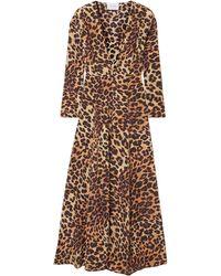 We Are Leone Leopard-print Silk Crepe De Chine Cardigan Animal Print - Multicolour