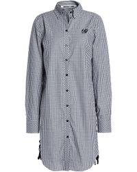 McQ - Lace-up Gingham Cotton-poplin Blouse - Lyst