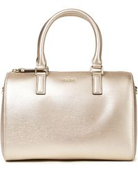 DKNY Bryant Medium Textured-leather Tote Rose Gold - Metallic