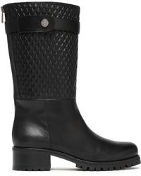 Belstaff - Quilted Leather Boots - Lyst