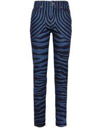Just Cavalli Zebra-print High-rise Skinny Jeans Mid Denim - Blue