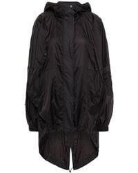 McQ Appliquéd Shell Hooded Parka - Black