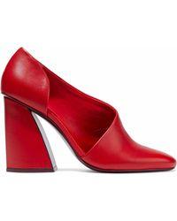 MERCEDES CASTILLO - Cara Cutout Leather Court Shoes - Lyst