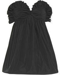 Philosophy Di Lorenzo Serafini Strapless Ruffle-trimmed Taffeta Mini Dress - Black