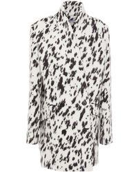 IRO Rimona Printed Brushed Wool, Alpaca And Silk-blend Coat - White