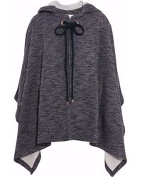 See By Chloé - Hooded Jersey Cape - Lyst