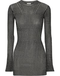 By Malene Birger | Aliasi Metallic Ribbed-knit Jumper | Lyst