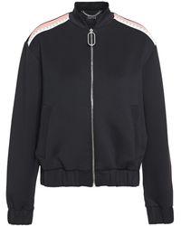 Markus Lupfer Josie Embellished Color-block Jersey Bomber Jacket - Black