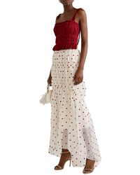 Brock Collection Tiered Embroidered Silk-blend Organza Maxi Skirt - Natural