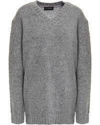 Lee Mathews Mélange Wool-blend Sweater - Gray
