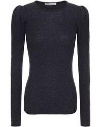 Autumn Cashmere Gathered Mélange Cashmere Sweater Charcoal - Multicolour