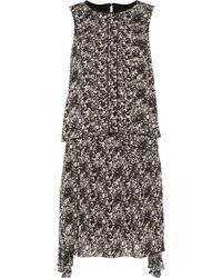Belstaff - Lindsey Asymmetric Layered Printed Chiffon Mini Dress - Lyst