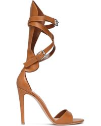 Gianvito Rossi - Vitalmo Gladiator Leather Sandals - Lyst