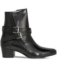 Amiri Buckle-detailed Patent-leather Ankle Boots - Black