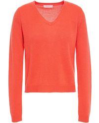 Majestic Filatures Wool And Cashmere-blend Jumper - Orange
