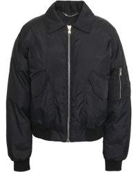 Moschino - Appliquéd Shell Bomber Jacket Black - Lyst