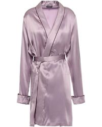 Ann Demeulemeester Silk-satin Robe - Purple