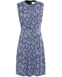 Erdem Yesim Pleated Satin-jacquard Dress - Purple