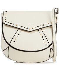 IRO Esid Eyelet-embellished Leather Shoulder Bag - Multicolor