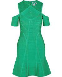 Hervé Léger - Cutout Bandage Dress - Lyst