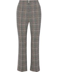 Sonia Rykiel - Cropped Houndstooth Wool-blend Flared Pants - Lyst