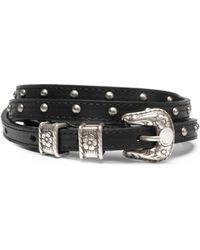 Just Cavalli - Stud-embellished Leather Belt - Lyst