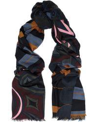 COACH - Frayed Printed Wool-twill Scarf - Lyst