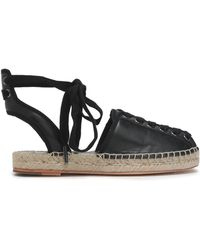 Opening Ceremony - Lace-up Leather Espadrilles - Lyst