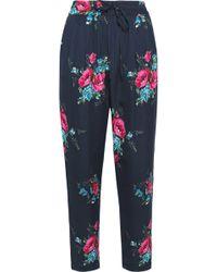 Joie - Luka Floral-print Silk Slim-leg Pants - Lyst