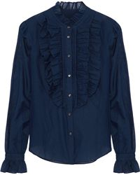 Temperley London - Ruffled Cotton And Silk-blend Voile Shirt - Lyst