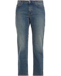 Acne Studios Row Carter Cropped Mid-rise Straight-leg Jeans Mid Denim - Blue