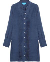 M.i.h Jeans - Sunbeam Pintucked Linen And Cotton-blend Shirt Dress - Lyst